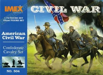 IMEX504 American Civil War Confederate Cavalry Set 1:72 Scale
